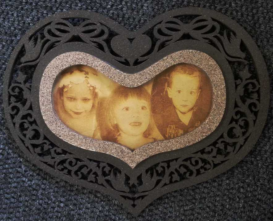 Laser cutting and engraving images.